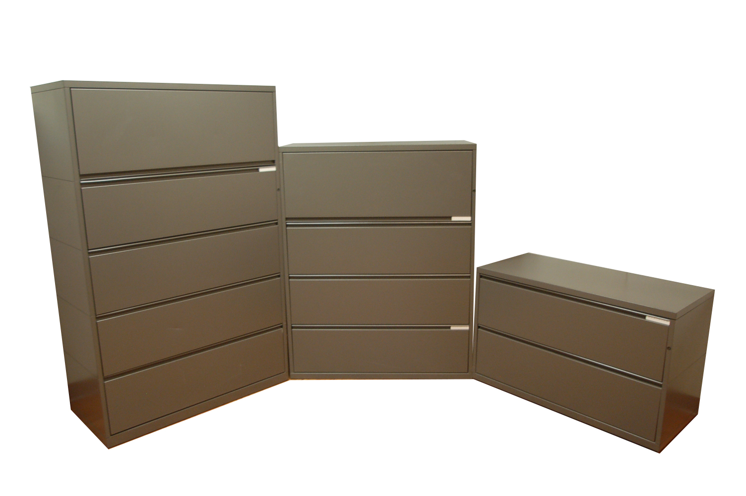 Three Lateral File Cabinets